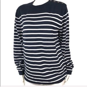 Anthropologie pullover nautical style sweater M